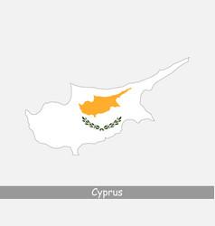 cyprus map flag vector image