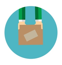 Delivery Flat Concept for Mobile Apps vector