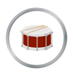 Drum icon in cartoon style isolated on white vector