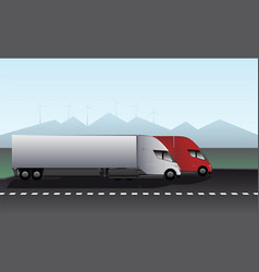 electric trucks with trailers vector image