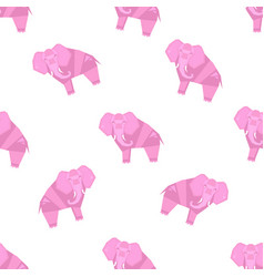 elephant pattern stylized vector image