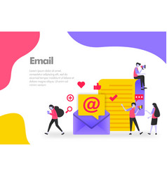 Email concept send receive and read vector