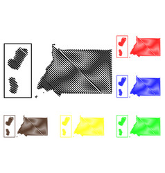 equatorial guinea map vector image