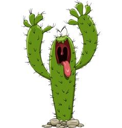 Evil cactus vector