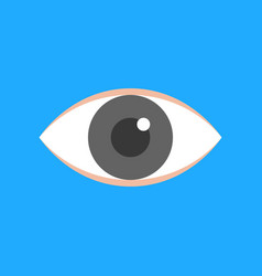 Eye or optometry sign medical and hospital vector