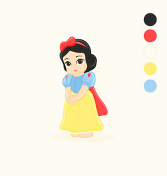 Fairytale character snow white vector