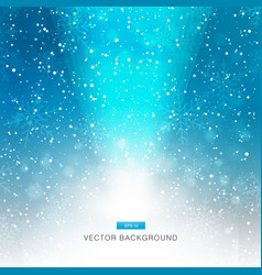 falling snow on blue background with light vector image