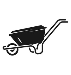 Farm wheelbarrow icon simple style vector
