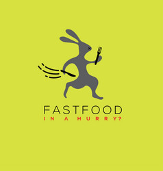 Fast food logo fast food icon vector