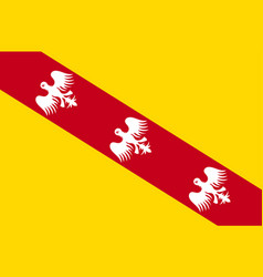 Flag of lorraine in grand est is a french vector