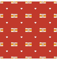 flat hipster cameras seamless pattern vector image