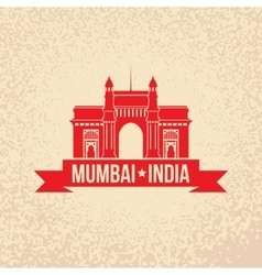 Gateway Of India Mumbai Maharashtra India vector image