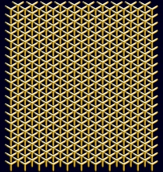 Geometric pattern of hexagons vector