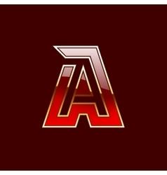 Gold Letter A Shape Logo Element vector