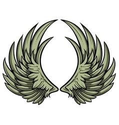 hand drawn pair wings vector image