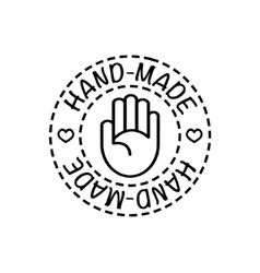 hand-made badge vector image