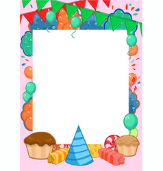 happy birthday invitation bright template vector image