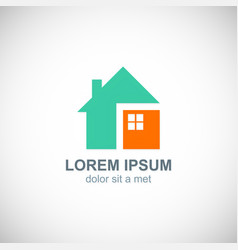 home concept design logo vector image