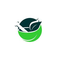 Homeopathy logo template vector