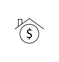 house home dollar icon element of finance signs vector image
