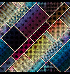 Imitation of a texture of rough canvas seamless vector