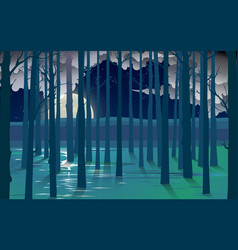 landscape mangove forest on beach vector image
