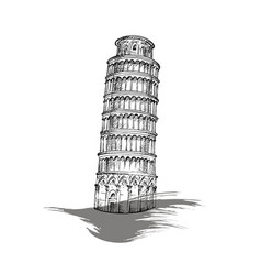 Leaning tower of pisa italy vector