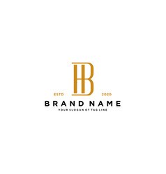 Letter bh logo design vector