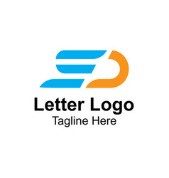 Letter s and d logo design template vector