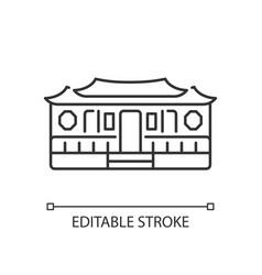 Longshan temple linear icon vector