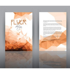 Low poly design for flyer template vector image