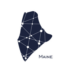 maine state map vector image