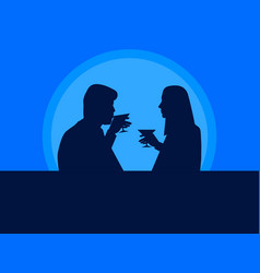 man and woman drink cocktails the guy and the vector image