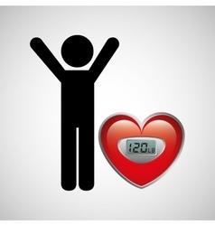 measuring cardiovascular rhythm vector image