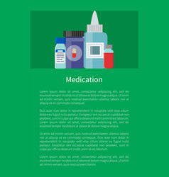 Medication medicament in containers antibiotics vector