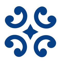 Mexican talavera tile pattern ornament in vector