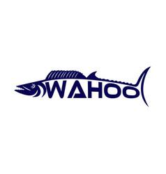 modern fish wahoo logo vector image