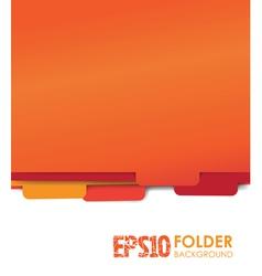 Orange folders vector