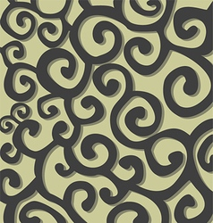 Pattern with grey stylish spiral curls vector