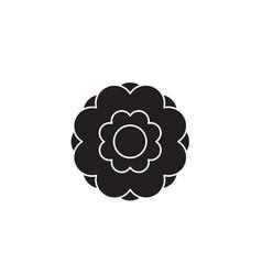 peony flower black concept icon peony vector image