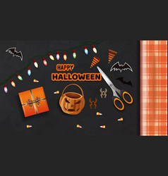 Preparing for the celebration of halloween vector