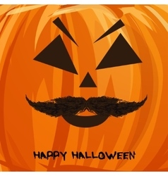 pumpkin portrait with mustache vector image