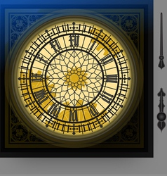 quadrant of magical victorian clock with lancets vector image