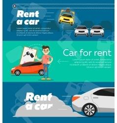 Rental car banners vector