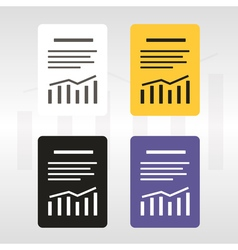 Report text file icon vector