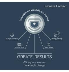 Robot vacuum cleaner flat infographic vector