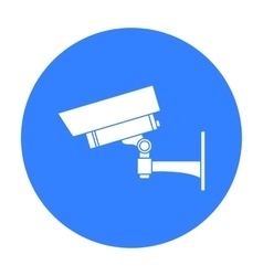 Security camera icon in black style isolated on vector