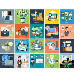 Set of business concepts on banners vector