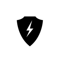 Shield lightning icon on white background can be vector