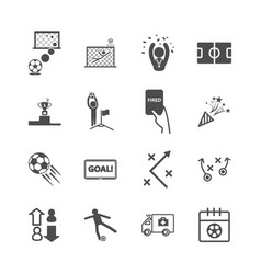 soccer and football icons sport game and activity vector image